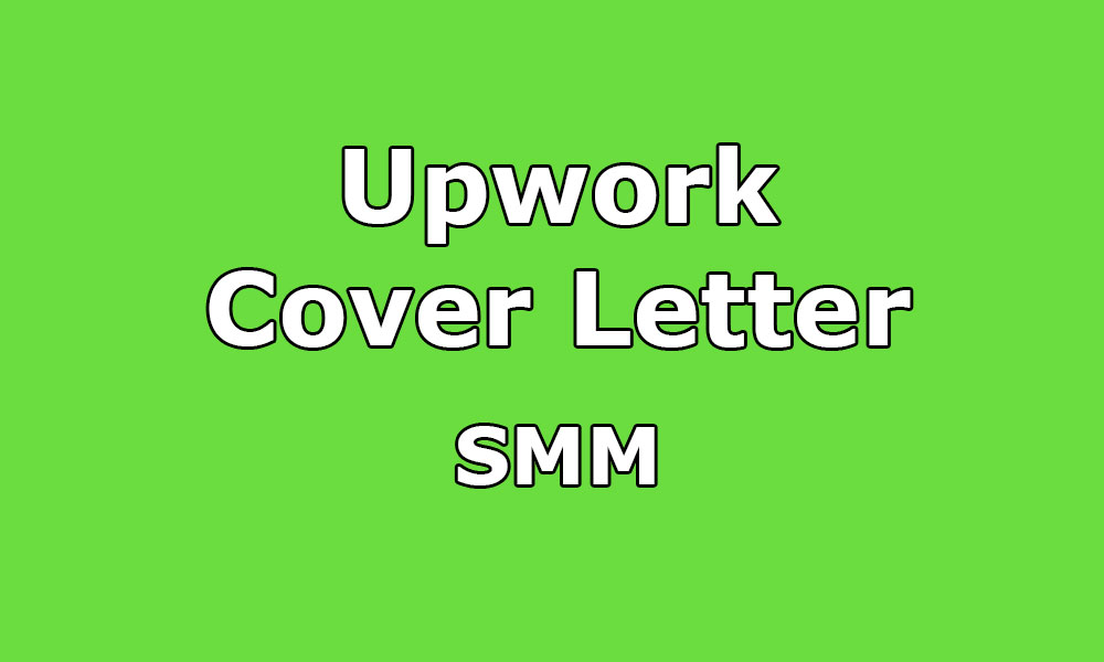 Smm Cover Letter For Upwork Blogspot
