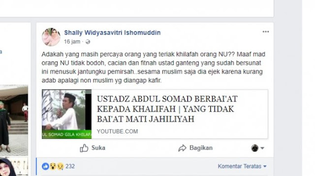 Diduga Akun Istri Ishomudin marah-marah ke Ust Abdul Shomad, ini penyebabnya