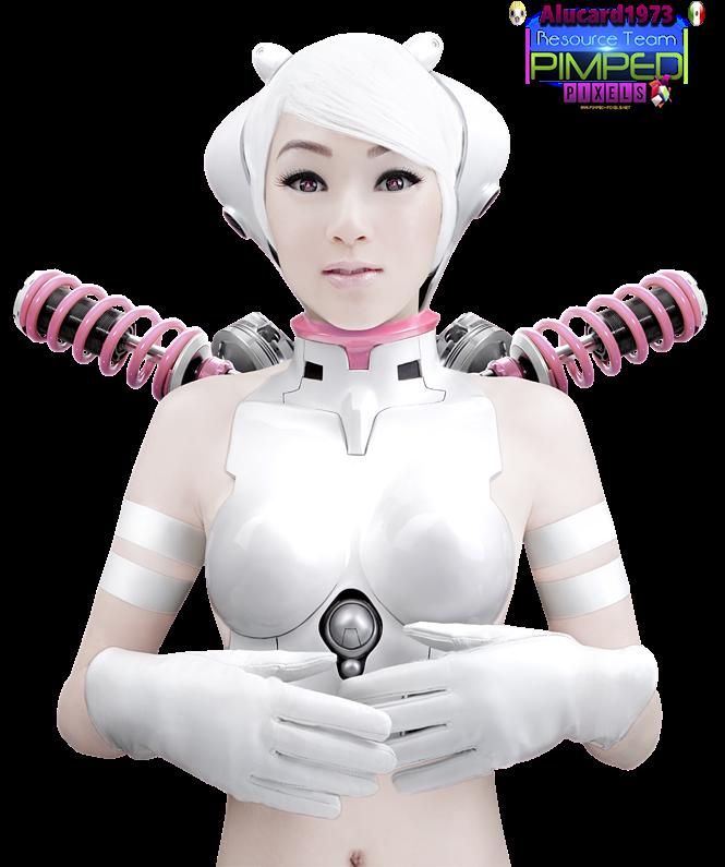 PNG Ciborg mujer
