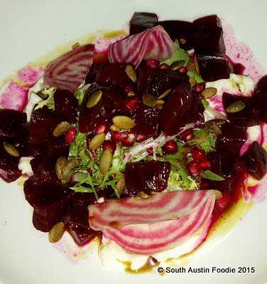 Juliet Restaurant Austin -- beet and burrata salad