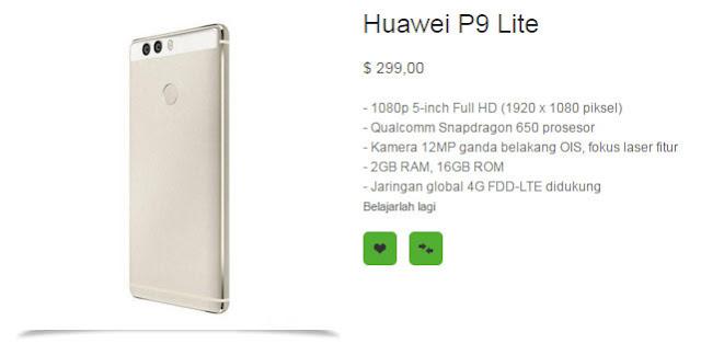 Inilah wujud asli, spesifikasi dan harga Huawei P9 lite
