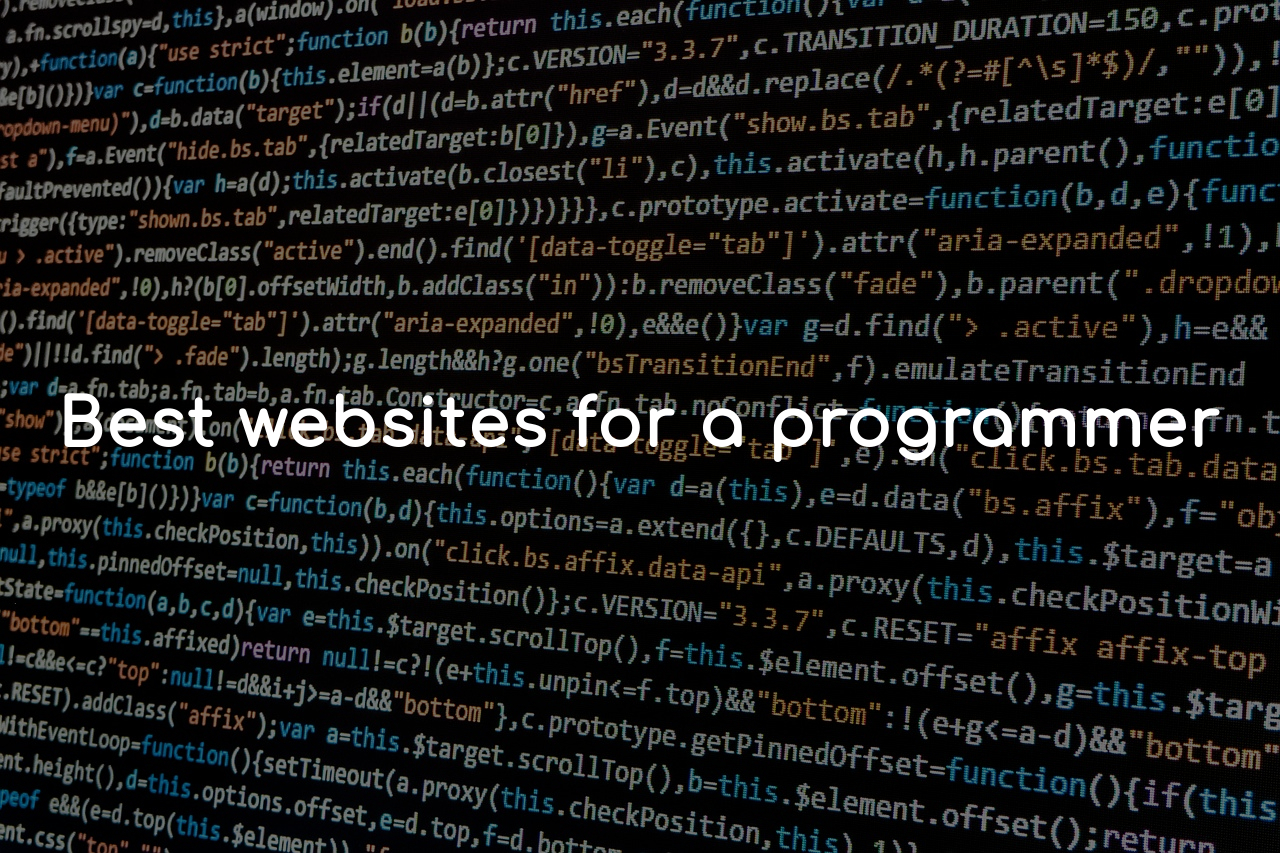 Best websites for a Programmer
