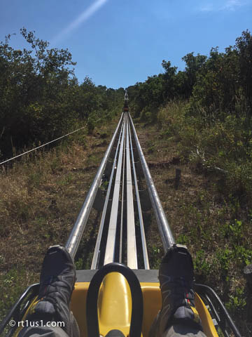 Alpine Coaster looking up the track