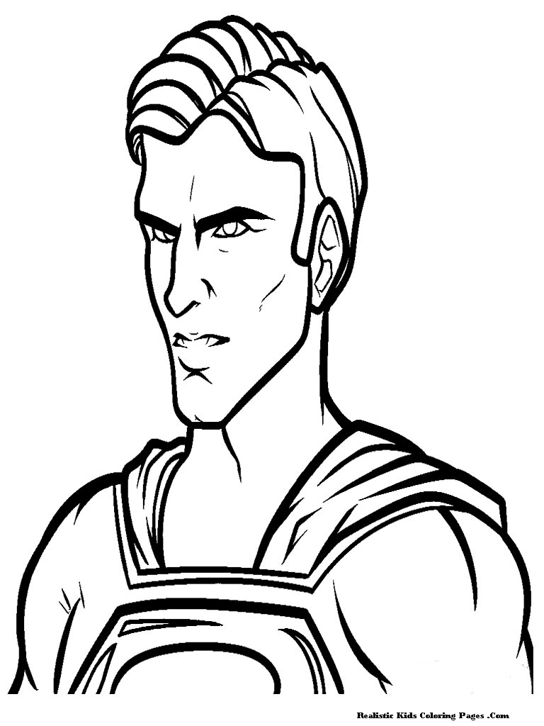 Man Of Steel Coloring Pages Realistic