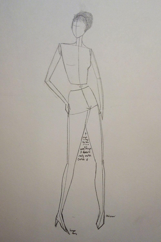 Paper Robot: Fashion Illustration - Stick Figures