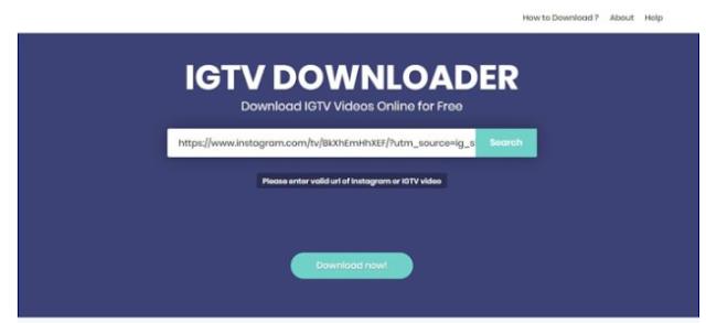 Cara download Video dan Film Dari Instagram IGTV
