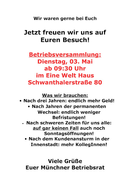 Hugendubel Verdi Infoblog: Betriebsversammlung in München