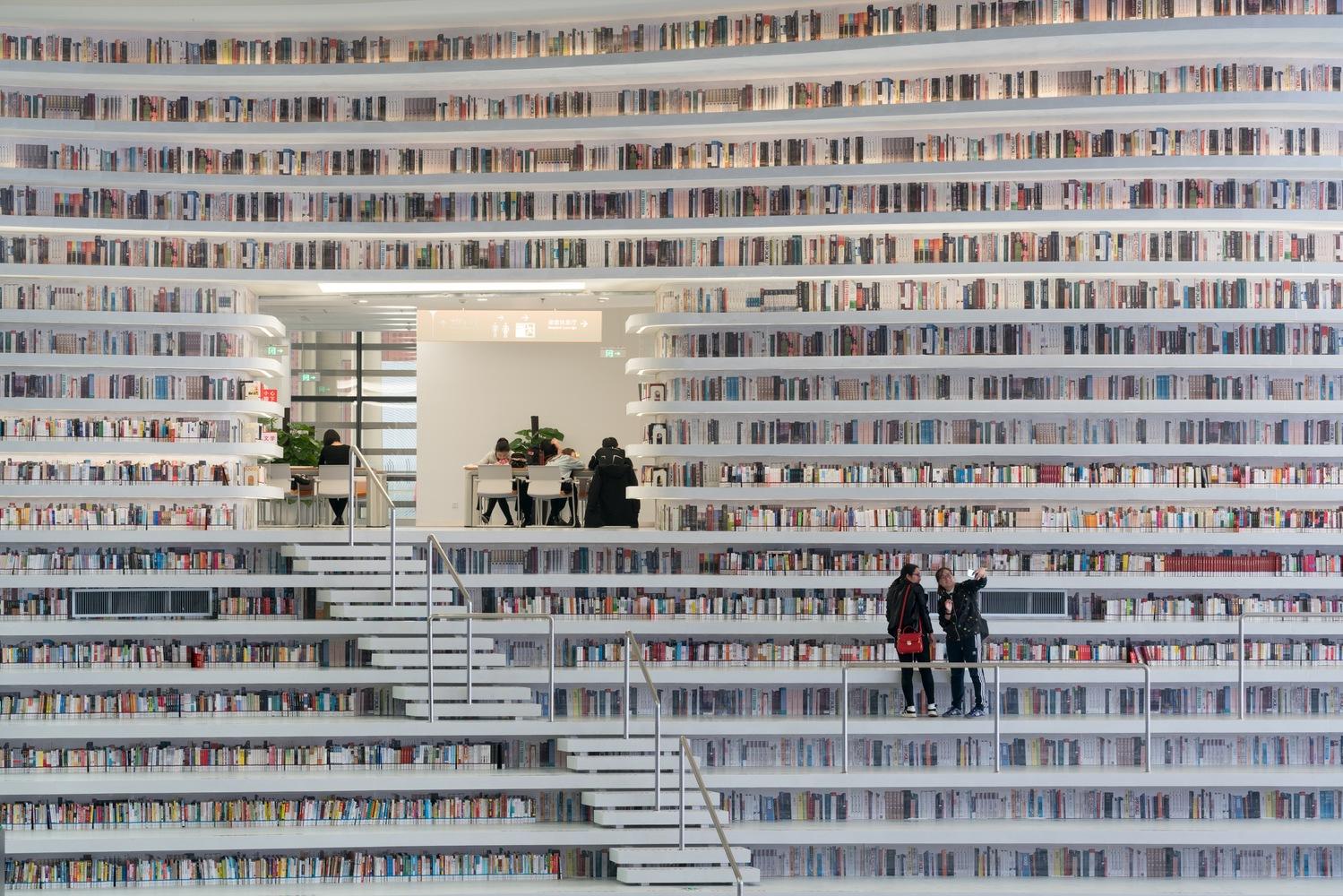 China inaugura la biblioteca más futurista de la historia en Tianjin