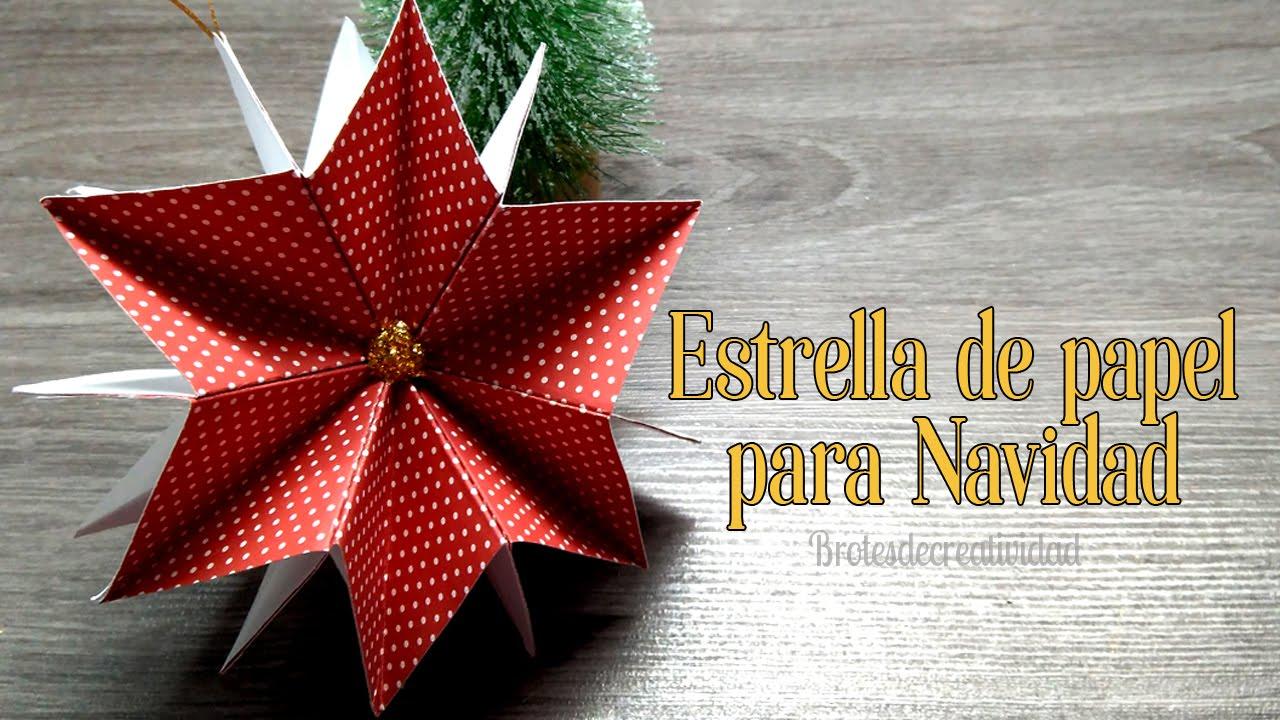 Brotes de Creatividad Estrella de papel para decorar en Navidad