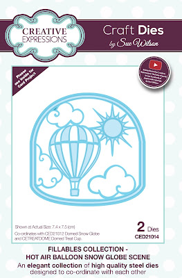 Creative Expressions Fillables Collection Hot Air Balloon Snow Globe Scene CED21014