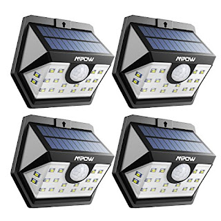 Mpow Solar Lamps - Outdoor Wall Lights