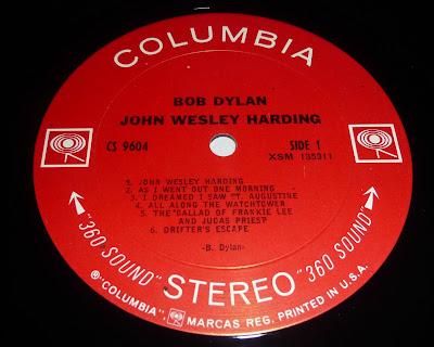 John Wesley Harding Label