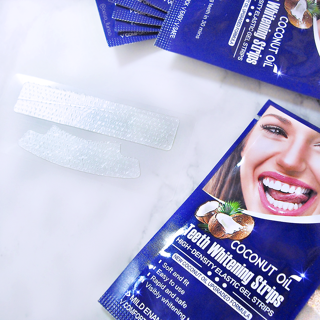 Teeth Whitening Strips with Coconut Oi