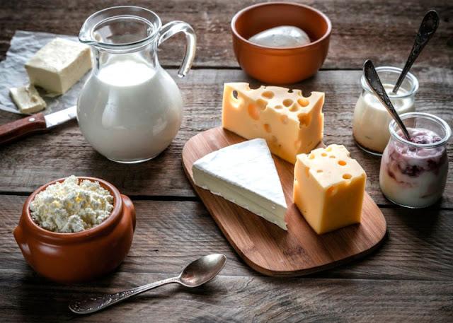 домашний сыр и масло