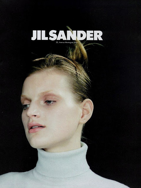 Guinevere van Seenus for Jil Sander's Spring/Summer 1996 catalogue and ad campaigns. Bleached eyebrows, minimal makeup, quintessentially 90's fashion photography. Creative team: Craig Mcdean, Eugene Souleiman, Pat McGrath, Marc Ascoli