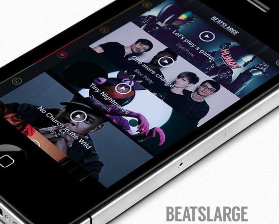 BeatLarge iphone music player