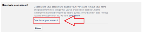 Delete Facebook Account Direct Link