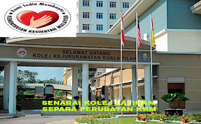 Senarai Kolej KKM Latihan Separa Perubatan 2018