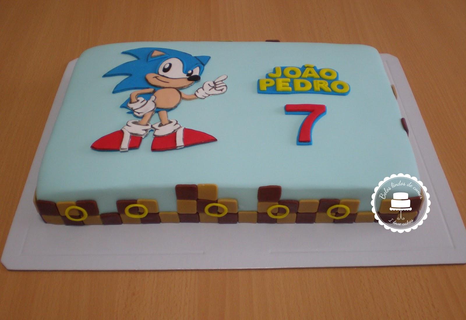 Bolos Lindos De Comer Bolo Sonic Sonic Cake