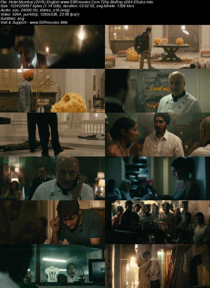 Hotel Mumbai (2018) English 480p BluRay x264 350MB ESubs Movie Download