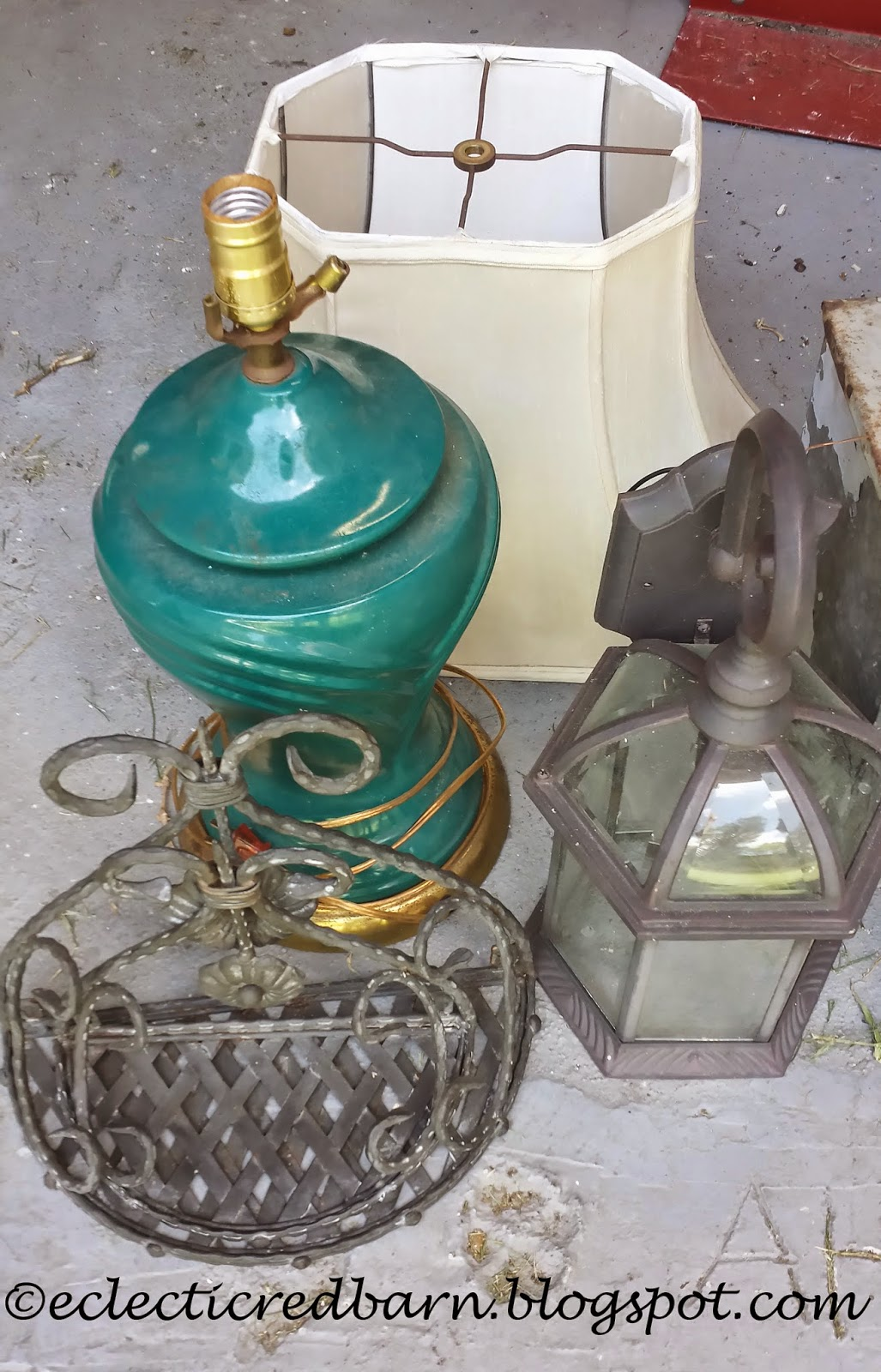 Eclectic Red Barn: Garage Sale Treasures