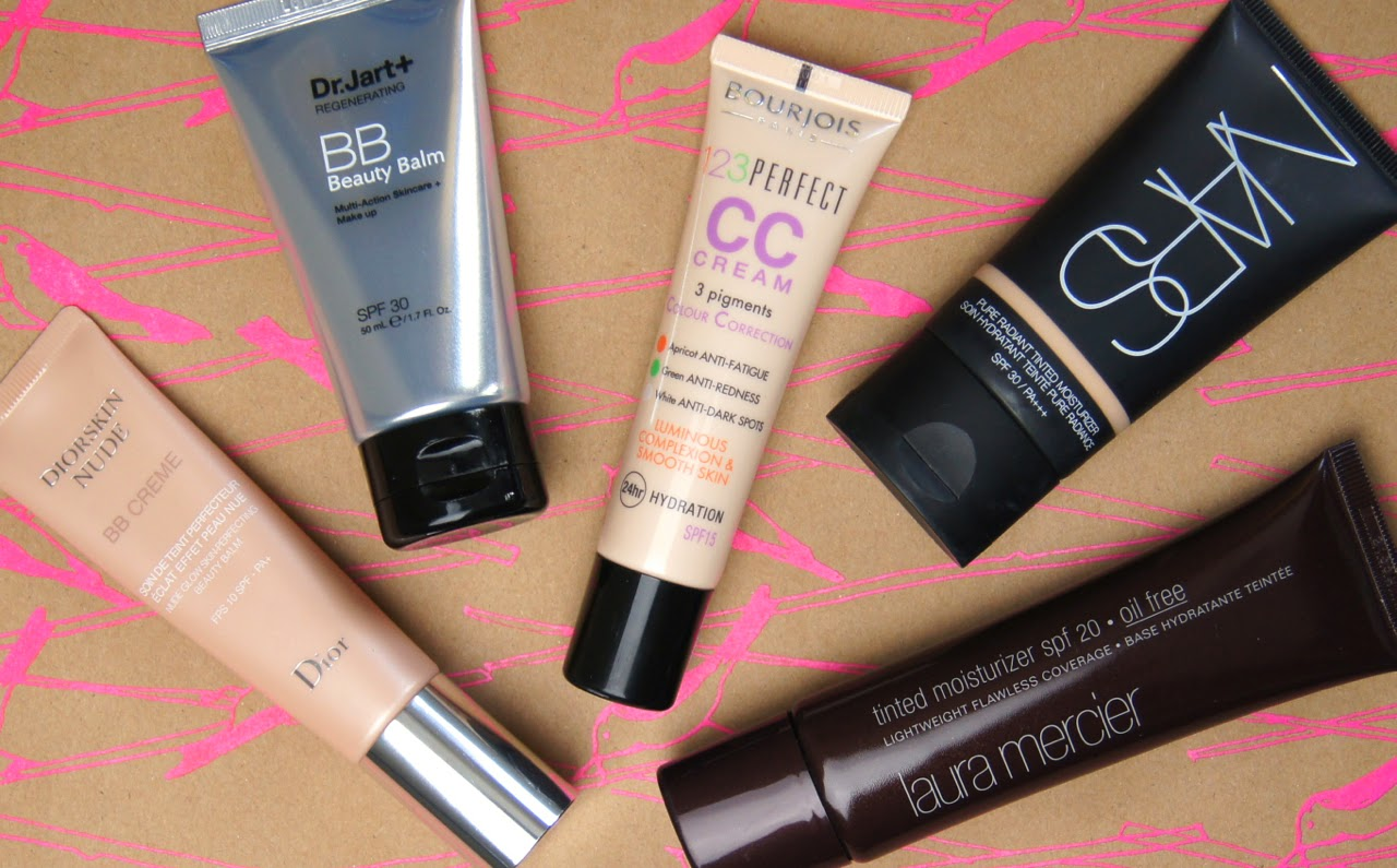 top 5 tinted moisturisers all skin types laura mercier nars dior dr jart+ bourjois