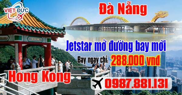 Đường bay mới của Jetstar từ Đà Nẵng đi Hong Kong