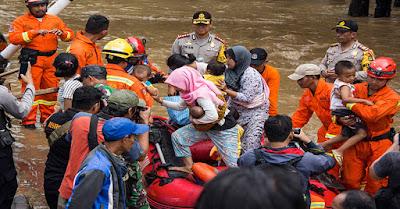 BNPB: Korban Banjir Jakarta Hari Ini Capai 7.788 Jiwa