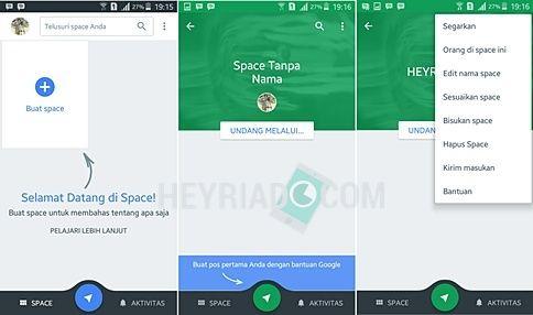 Cara Menggunakan Aplikasi Spaces Google