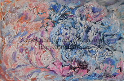 Contemporary Painting Floral fantasy in abstract style