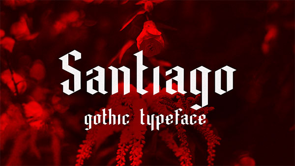 Font Modern Blackletter Grafis - Santiago Blackletter Free Typeface