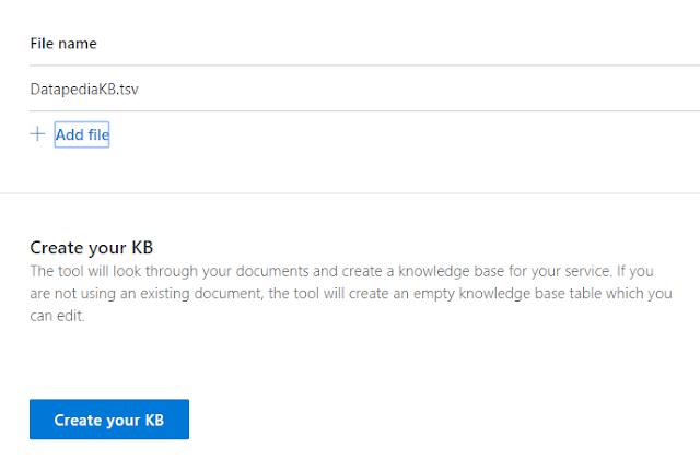 Figura 12: Subida del fichero DatapediaKB en formato tsv