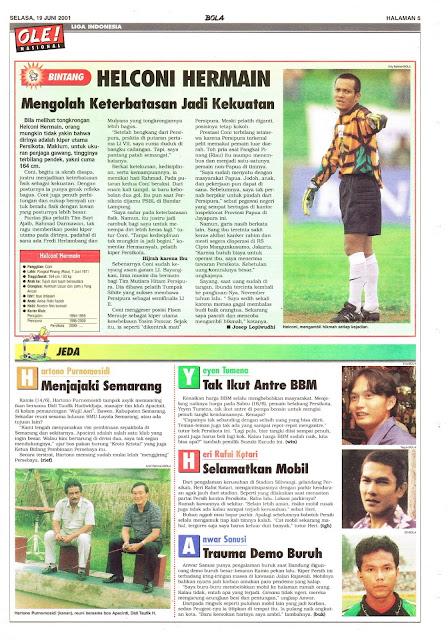 PROFIL BINTANG LIGA INDONESIA HELCONI HERMAIN