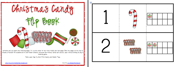 Lil Country Librarian: Christmas Candy Math Flip Book
