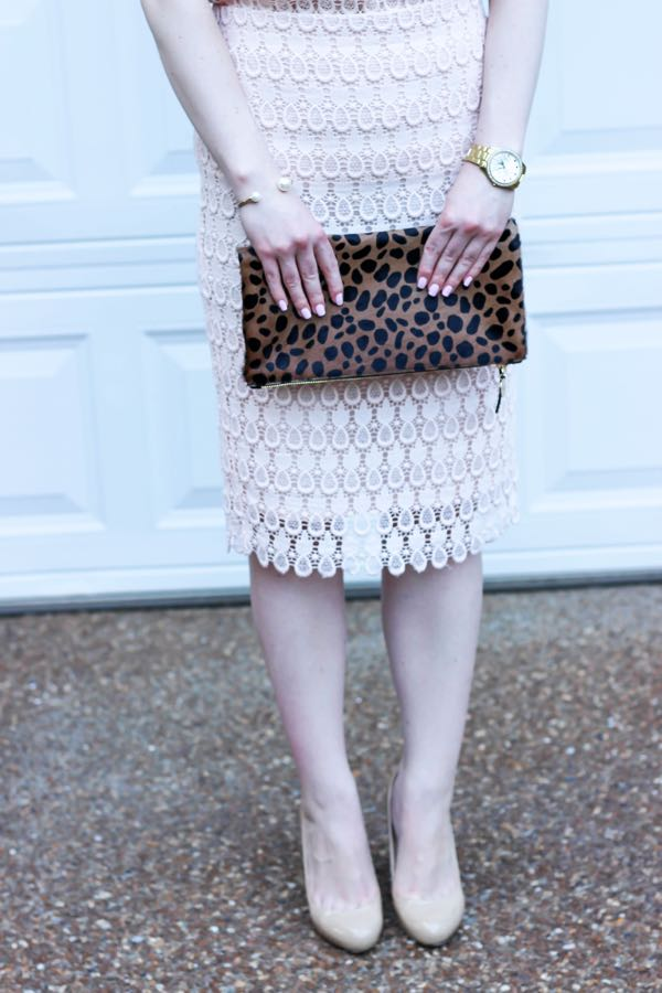 Ann Taylor Pineapple Lace Pencil Skirt