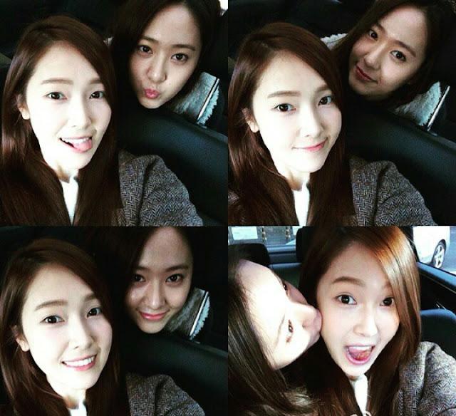Foto kedekatan Jessica Jung dan Krystal(fx)