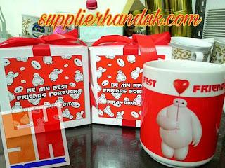 souvenir gelas mug untuk souvenir peringatan kematian