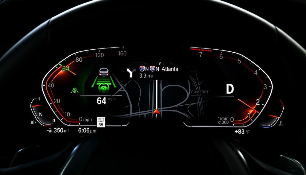 bảng giao diện mới trên đồng hồ taplo bmw x5 2019-2020