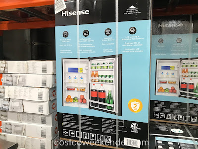 Costco 1075044 - Hisense RS44G1 Compact Refrigerator: perfect for a college dorm room or a man cave
