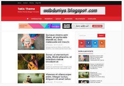 takis blogger template