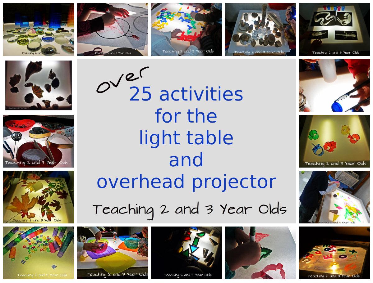 Over 25 Light Table Activities For Preschool