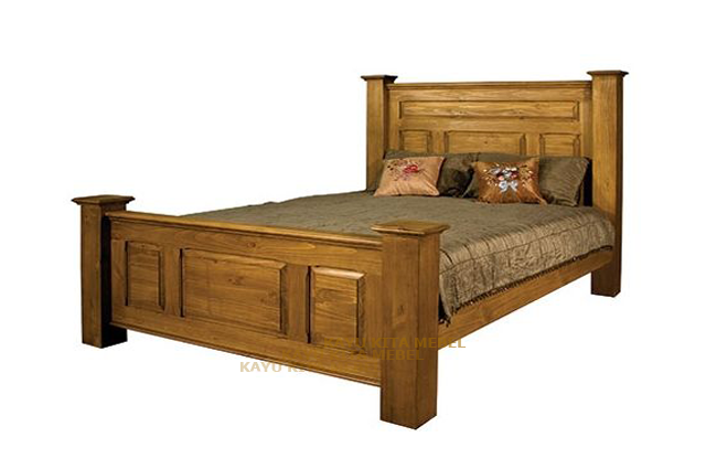 gambar tempat tidur minimalis jati