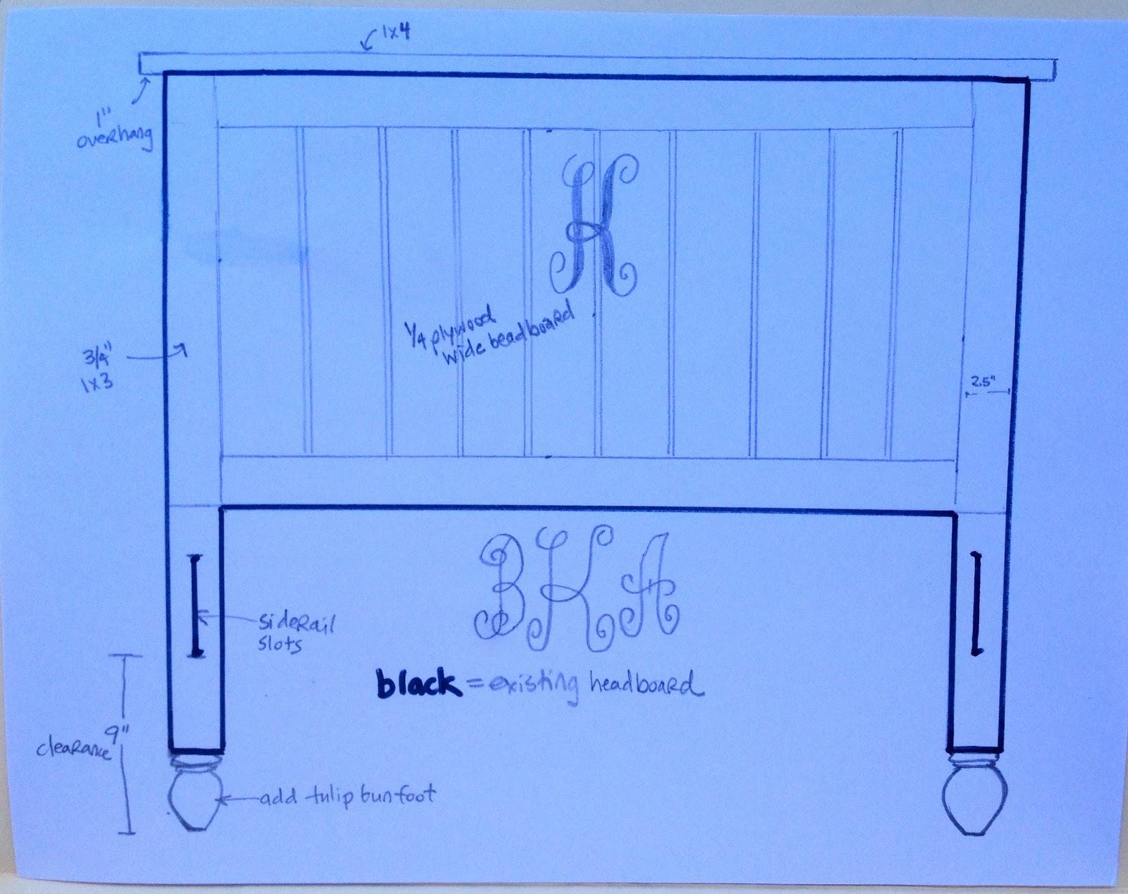 sketch to transform headboard