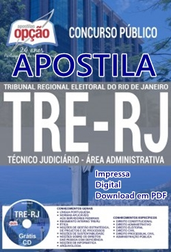 apostila pdf TRE RJ 2017 - Técnico Judiciário.