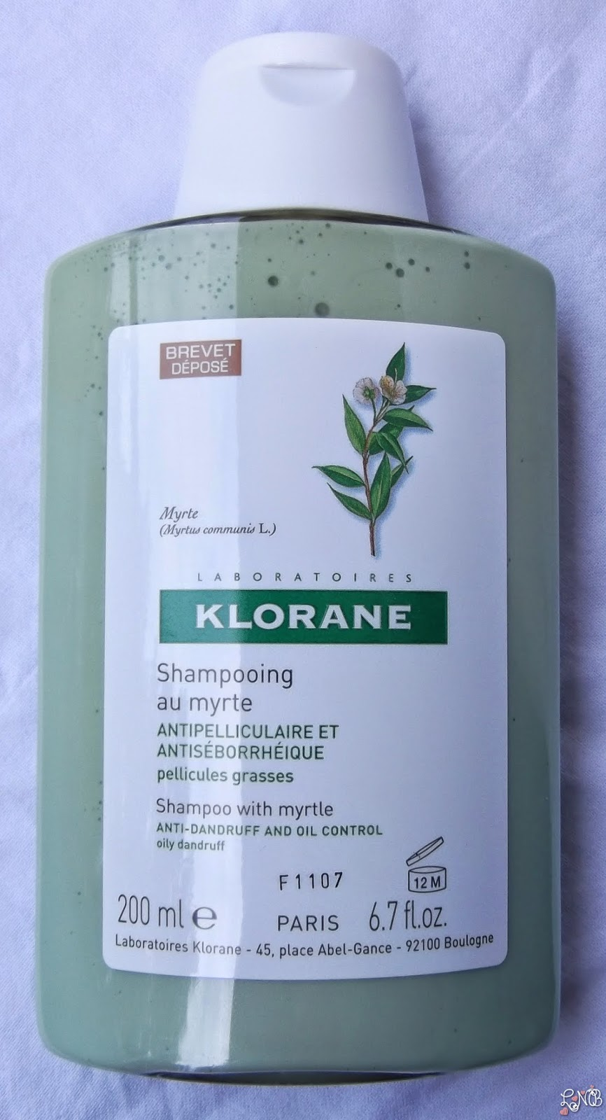 KLORANE Shampooing Antipelliculaire Antiséborrhéique Myrte