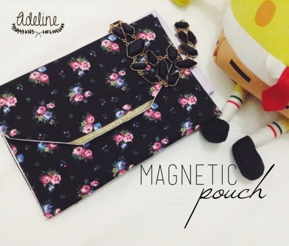 magnetic pouch handmade
