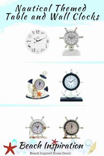Nautical Themed Table and Wall Clocks