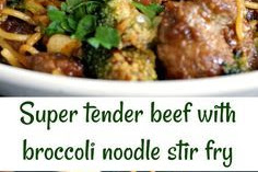 Broccoli and Beef Noodles Stir Fry