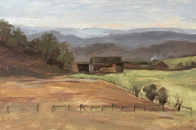 #150 'The Barns, Surrey Hills' 8×12″