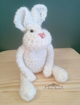 Hand Made Crochet Bunny, Bliss-Ranch.com